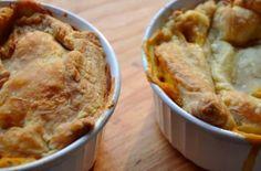 Creamy veggie pot pie with rosemary