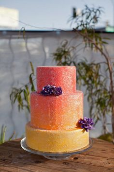 Orange and Yellow Ombre Cake by Gimme Some Sugar (vegas!) – sorry, I'm temporarily obsessed with this bakery. It'll pass!