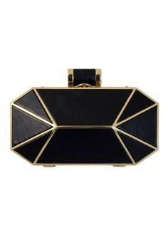 Halston Heritage Handbags Ebony Prism Clutch
