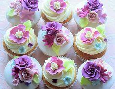 adorable floral cupcakes