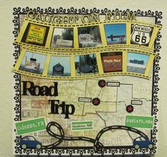 Road Trip - like the layout concept scrapbook layouts, pea, backgrounds, bucket, vacation scrapbooking pages, summer road trips, scrapbook pages, the road, roadtrip