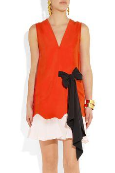 Vionnet|Stretch-crepe and silk dress|NET-A-PORTER.COM