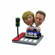 Custom Bobble Head - Double Body - Two Persons All we need is your photo and we'll turn your two faces into a custom #bobblehead. #personalizedgifts