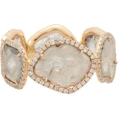 Monique Péan Atelier Diamond Slice & Recycled Rose Gold Eternity Band Ring
