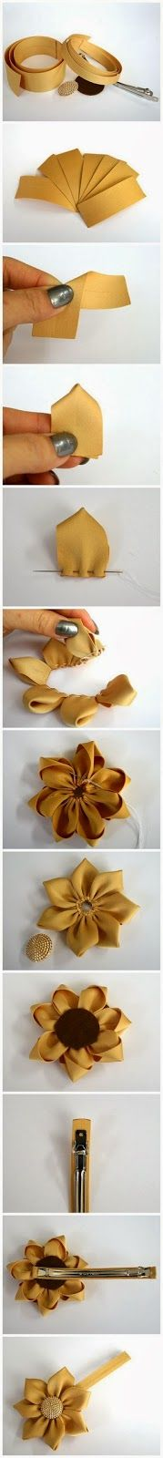 ribbon flower diy