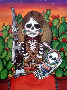 Kahlovera Art  #kahlovera Art #Dia De Los Muertos Art #Day Of The Dead Painting