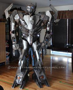Crazy Autobot Silverbolt Costume... Coolest Halloween Costume Contest