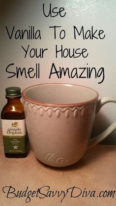 Perfect tip if you are going to have company over or you just want your house smelling amazing. Simply  place 2 teaspoons of vanilla into a coffee mug (or probably a small baking dish)vand place in a 300 degree oven for 1 hour.