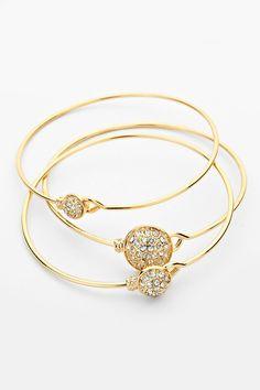 Pave Ova Bracelet in Gold