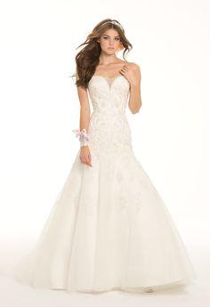 Camille La Vie Illusion Plunge Trumpet Wedding Dress Bridal Gown    #weddingdresses #bridalgowns #weddings