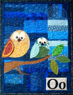 "*Free* wall hanging pattern: ""O is for Owl"", 18"" x 24"" at Patchwork Posse. Would love to make for my sewing room. I love owls."