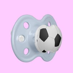 Blue, White, or Pink Soccer Ball Pacifier for future soccer stars #soccer #baby #babies #pacifier #babyshower