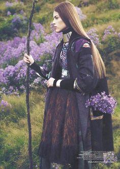 Warrior in lavender...