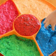 Magic Foaming Paint -- a great artsy, sensory project. Little kids and big kids LOVE this! | Two easy ingredients: tempera paint and powedered koolaid