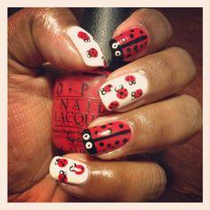 Ladybug mani