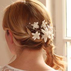 Silk Flower Hair Wire at www.lolaandi.com