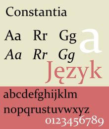 Constantia font