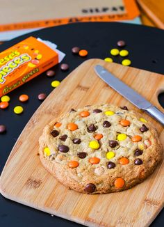 Giant Reeses Pieces Peanut Butter Cookie