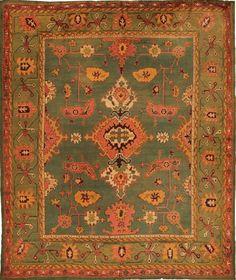 Arts and Crafts Oushak Antique Carpet Oriental Rug - $38000. Arts and Crafts, Art Nouveau, Liberty Art, Textiles, printed, design
