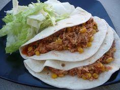 Lime chicken tacos (crock pot)