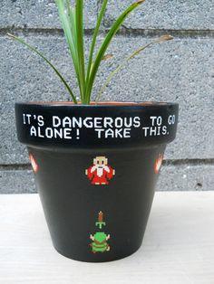 #Zelda flower pot by Ginger Pots