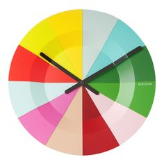 Slices Colorful Clock