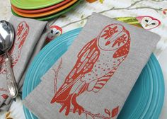 Night Owl Napkin- set of 4  Betsy Olmsted again...