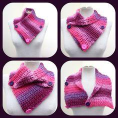 Crochet Neckwarmer - Pink