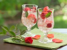 Indian Summer Raspberry Peach Sangria Recipe (I'd prefer rum over wine, I think)