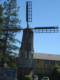 This is one of many of many wind mills in Solvang, California.     We can generate new energy solutions as Wind Energy and Solar Power Using  New Tech