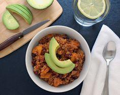 Sweet Potato & Quinoa Chili simpl veganista, food, chilis, potatoes, potato quinoa, quinoa chili, recip, dinner tonight, sweet potato