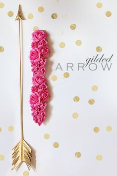 DIY Gilded Arrow