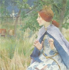 """Marianne Stokes (1855-1927) - """"The Frog Prince""""."""