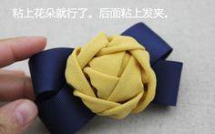ATELIER CHERRY: Flor em tecido - Prendedor de cabelo
