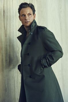 Tony Goldwyn in Burberry Prorsum's cotton-and-polyamide coat and Boss' wool turtleneck. [Photo by Jill Greenberg]