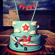Children's Birthday Cakes - dusty plane cake