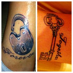 Couples tattoo / husband and wife
