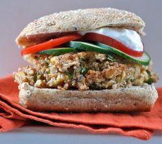 Mediterranean chickpea burger.