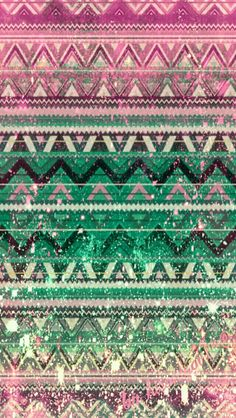 Peach Blue Green Aztec N Tribal Print Wallpapers