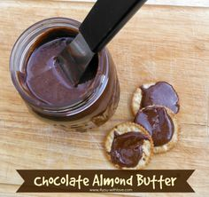 chocolate almond butter is so yummy & easy to make  #chocolatealmondbutter #almondbutter #nutbutter