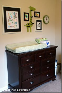Our nursery - changing table