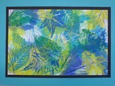 layered leaf printing for Kindergarten
