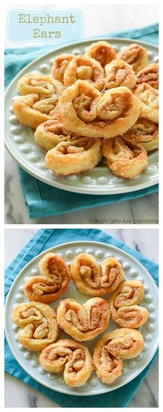 Elephant Ears - only 4 ingredients. Layers of cinnamon sugar and flaky dough. {The Girl Who Ate Everything}