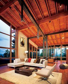 Modern mountain house.