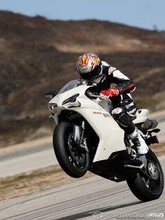 White Ducati 848