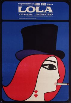Polish Poster for Lola (Jacques Demy, 1961)  Designed by Maciej Hibner