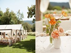 The custom tent canopy was designed by Shannon Leahy, and created by Wine Country Party & Events.
