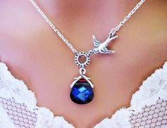 pendant necklace with asymmetric accent piece