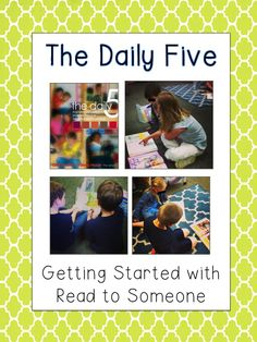 School Is a Happy Place: The Daily Five: The First Days of Read to Someone (and a FREEBIE)
