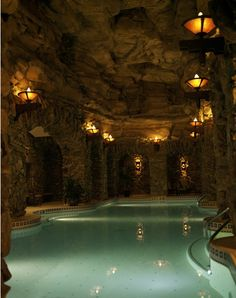 The lap pool at the Grove Park Inn spa - Photo courtesy of Grove Park Inn.